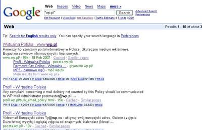 Sprawdzanie indeksacji serwisu w Google